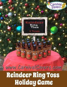 Super Cute! DIY Christmas Carnival type Game - Reindeer Ring Toss