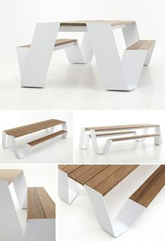Hot hopper « Point of Difference Modern Outdoor Furniture, Modern Table, Metal Furniture, Garden Furniture, Furniture Design, Picnic Table Bench, Wall Seating, Outdoor Tables, Outdoor Seating