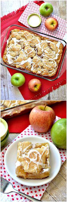 Apple Pie Bars // yummy & easy dessert for Thanksgiving buffet #fall