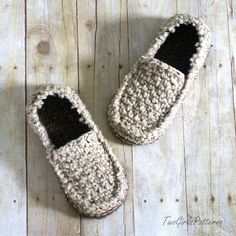 Crochet Pattern for Super Pack of Mens Loafers - Crochet Pattern 122 - Instant Download (5.50 USD) by TwoGirlsPatterns