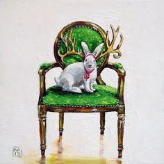 guess who original fine art by Kimberly Applegate