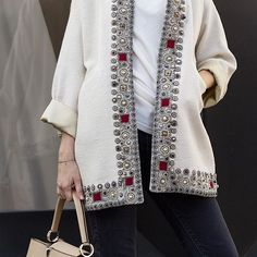 29 Boho Jackets Trending Now – Fashion New Trends Doll Clothes Patterns, Clothing Patterns, Trending Now Fashion, Lesage, Star Fashion, Fashion Trends, Altered Couture, Embroidery Fashion, Russian Fashion