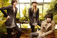 The Burberry Spring/Summer 2009 Campaign featuring British musician George Craig, British model Lily Donaldson and British musician Sam Beeton, photographed by Mario Testino