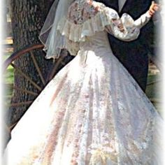 Southern bell wedding gown