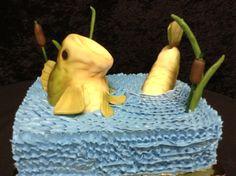 Cookie Jar Bakeshop I Custom Cakes I Grooms cake I fishing cake I cat tails I