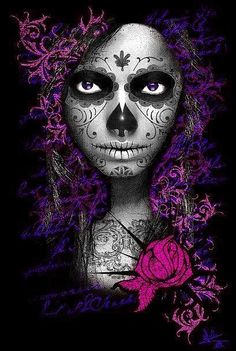 Day of the dead ✯ www.pinterest.com/wholoves/art ✯ #art