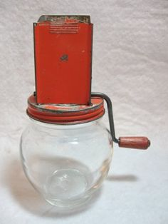 Vintage Red Nutmeg Grinder @ Vintage Touch ~  SOLD