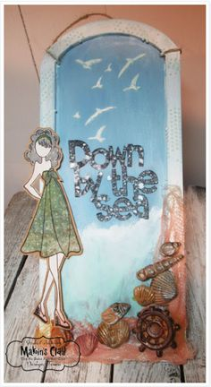 Makin's Clay® Blog: Down by the Sea Decorative Panel by Steph Ackerman