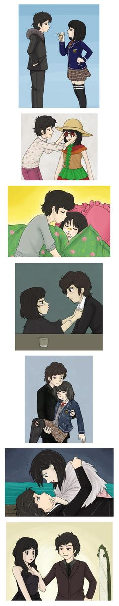 Just some more of my favorite Jun Pyo x Jan Di moments. I can't believe the drama is over ; I'm gonna re-watch the Japanese version, then. Boys Over Flowers JunDi 2 F4 Boys Over Flowers, Boys Before Flowers, Kdrama, Chibi, Two Worlds, Baek Seung Jo, Ji Hoo, Fanart, Meteor Garden