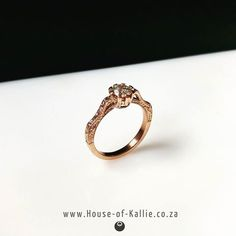 Another shot of this beautiful ring Girls Best Friend, Beautiful Rings, Behind The Scenes, Custom Design, Wedding Rings, Rose Gold, Engagement Rings, Diamond, Pretty
