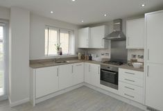 Love cream units with wooden tops! The Finchley, Kitchen