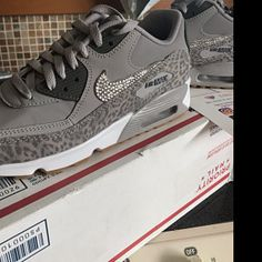 on sale d299f 0c568 Swarovski Nike Air Max 270 Shoes Blinged Out With Swarovski Crystals Bling Nike  Shoes