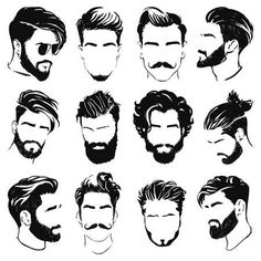 Drawing Reference Men Hair Style Ideas For 2019 Drawing Male Hair, Guy Drawing, Drawing Reference, Hair Styles Drawing, Drawing Women, Hair Drawings, Anatomy Drawing, Mens Hairstyles With Beard, Hair And Beard Styles
