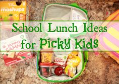 Who has picky kids? THIS GIRL DOES. Check out my school lunch ideas for picky eaters.