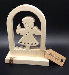 Geschenke und Geschenkideen zur Geburt oder Taufe für Mädchen und Jungen. Unser wunderschöner Schutzengel aus Zirben Holz, mit Namen des Kindes...