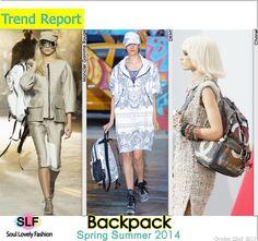 Backpack Bag Trend for Spring Summer 2014 #backpack #bag #trends #spring2014