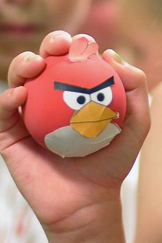Racquetball Red Angry Bird for knocking down pig fort
