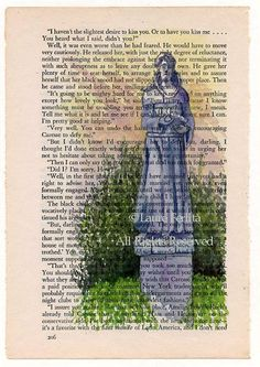 St. Francis of Assisi in the Beauregard-Keyes House Garden Watercolor on Old Book Page* As promised as a consolation prize for those tha...