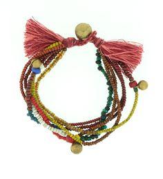 Colorful Thai Handmade Bell Bracelet - Dharmashop.com