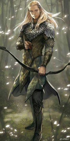 Legolas fan art from The Hobbit Fantasy Male, Fantasy Warrior, Elf Warrior, Tolkien, Legolas Und Thranduil, Gandalf, Elfen Fantasy, Wood Elf, Elvish