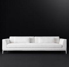 Italia Taper Arm Fabric Sofa | RH Modern (but in light grey)