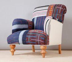 fauteuil patchwork, fauteuil patchwork stylé