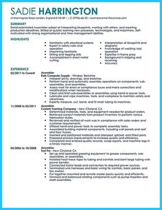 Assembly Line Worker Resume Custom Marketing Resume Will Be All About On How A Person Can Make The .