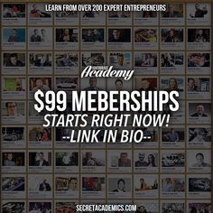 In celebration of our #SecretAcademyChallenge finale this weekend we are dropping the price for #SecretAcademy memberships right now to just $99! That's our LOWEST price of the year! Click the link in our bio for instant access. #motivation #success #quotes #inspiration