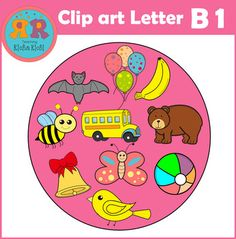 This letter B alphabet clip art set contains 20 image files, which includes 10 color images and 10 black & white images in png and jpg. All images are 300dpi.This letter B alphabet clip art set includes:* Ball* Balloons* Banana* Bat* Bear* Bee* Bell* Bird* Bus* ButterflyYou will receive:10 color png & jpg images10 black & white png & jpg imagesI would appreciate your feedback.Please give credit to Teaching RichaRichi and link back to my TpT storehttps://www.teacherspayteachers...