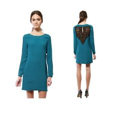 Teal with lace back #cynthiavincent