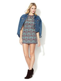 Mod Squad Mini Dress by Free People - it's definitely 'mini' and can't be worn without tights, but it's a keeper!