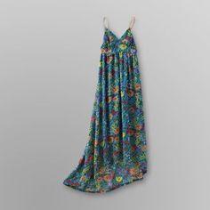 Dream Out Loud by Selena Gomez Junior's Chiffon Maxi Floral Dress