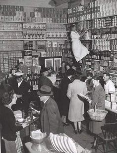 | Jim Fitzpatrick, Grocery section, Bell and Macaulay's Store, Drouin, 1944 |