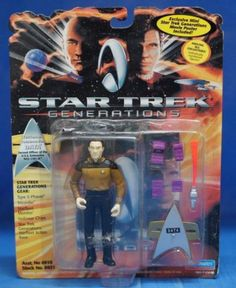 Star-Trek-Generations-1994-Figure-Set-of-3-Playmates-Data-Dr-Soran-B-039-etor