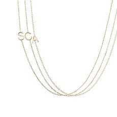 cool letter necklace - great for a mom - one letter for each child