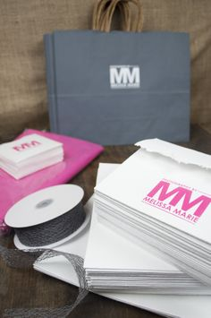 Hot pink, gray, & white palette - Rice Studio Supply - photo packaging