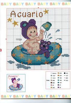 Schema punto croce Baby Oroscopo 1