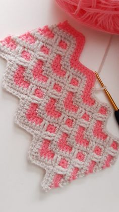 Crochet Stitches Patterns, Crochet Motifs, Crochet Squares, Stitch Patterns, Free Crochet, Knitting Patterns, Knitting Tutorials, Knit Stitches, Granny Squares