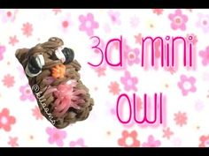 NEW 3D Mini Owl Rainbow Loom Charm Tutorial | How To