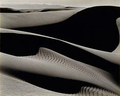 Edward Weston, Dunes, Oceano, 1936  Central Coast Ca. , pretty cool pic, I've been on these dunes!