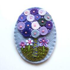 Tree felt brooch with freeform embroidery. £15.00, via Etsy.