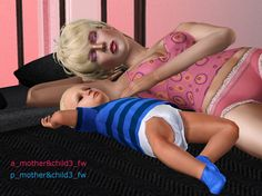 My Sims 3 Poses: Mother & child (toddler) by Buitefr1