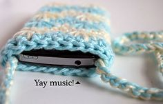 Ravelry: Blue Agave Phone Pouch pattern by Tamara Kelly