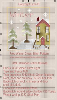 Happiness is Cross Stitching : Free winter mini cross stitch pattern and mini…