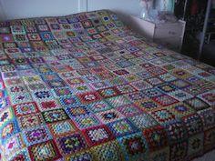 Crochet Granny Squares Crochet Rugs, Crochet Granny, Granny Squares, Afghans, Blankets, Craft Ideas, Inspirational, Handmade, Crafts