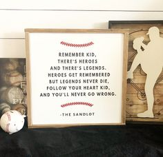 The Sandlot Sign, Wood Sign, Boys Room Decor