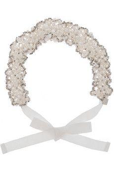 Rosantica Primavera pearl and palladium headband   NET-A-PORTER