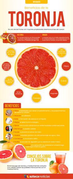 Beneficios de la toronja #infografia
