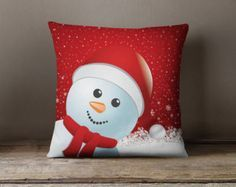 Christmas Snowman Pillow Christmas Decoration by wfrancisdesign Etsy Christmas, Christmas Sewing, Christmas Snowman, Christmas Projects, Christmas Ornaments, Christmas Gifts, Christmas Cushions, Christmas Pillow Covers, Christmas Face Painting