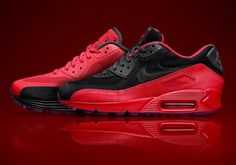 "5fb6d0dd7b43c Seemingly available only via scavenger hunt are the Nike Air Max 90 ""Red  Rose"" pairs from ..."